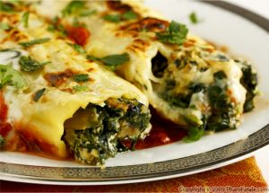 Artichoke and Spinach Manicotti Pasta