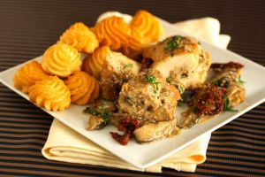 Mushroom and Cheese Stuffed Chicken Breast