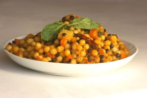 Moghrabieh with Root Vegetables (Lebanese Couscous)