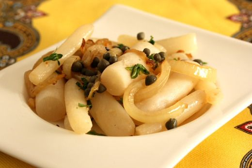 Salsify in Butter with Capers Recipe