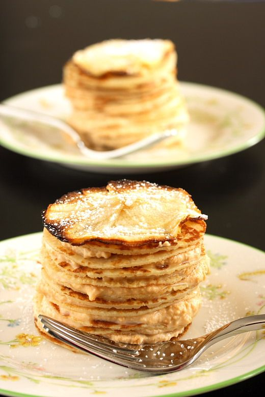 Crepe Cake with Butterscotch Cream Recipe