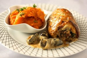 Olive Tapenade Chicken Rolls