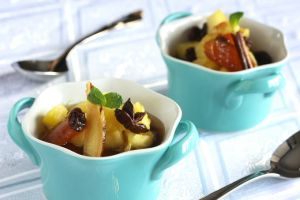 Pineapple and Persimmon Compote