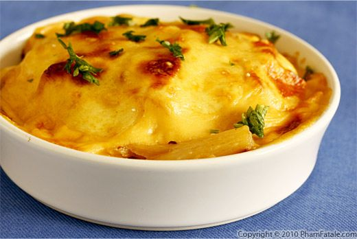 Salsify Potato Cheese Gratin Recipe