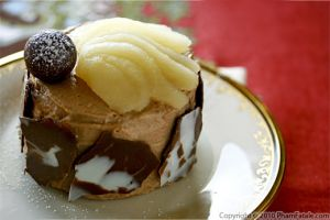 Chocolate Pear Entremet