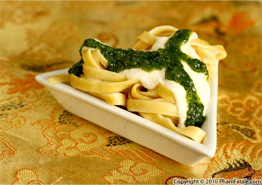Ricotta Pasta with Chimichurri Recipe