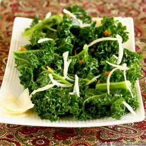 Kale with Homemade Pickled Ginger