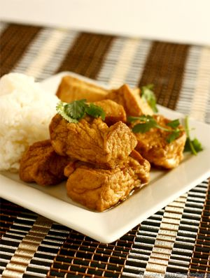 Braised Tofu in Miso Broth