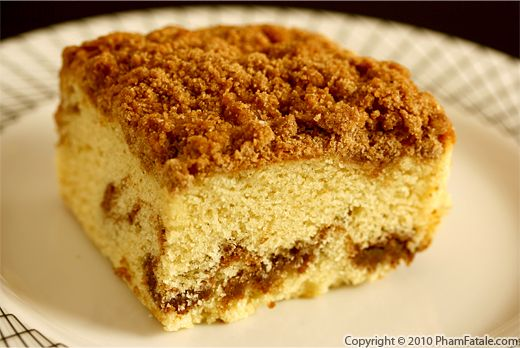 Chestnut Crumb Coffee Cake Recipe