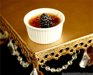 Blackberry Creme Brulee