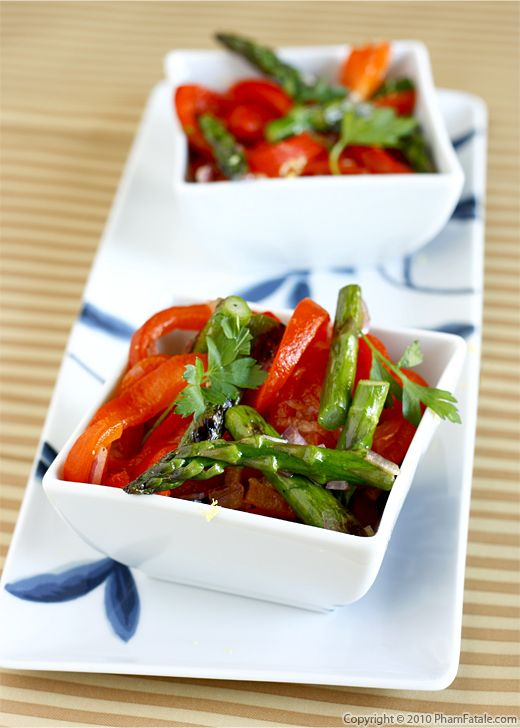 Roasted Red Bell Pepper and Asparagus Recipe