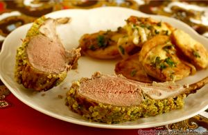 Lamb Chops with Kumquat Walnut Crust
