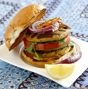 Chicken Kebab Burger Picture