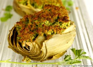 Baked Artichokes with Persillade Crust
