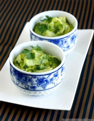 Pesto Buttermilk Mashed Potatoes