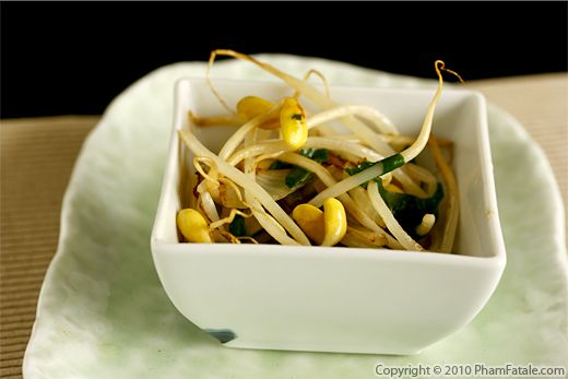 Soybean Sprouts with Black Bean Sauce Recipe