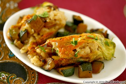 Risotto Stuffed Zucchini Flowers Recipe