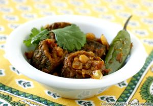 Stuffed Karela Recipe (Indian Bitter Melons with Chana Dal)