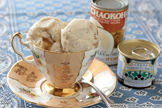 Coconut Milk Ice Cream Recipe with Chestnut Swirl Recipe