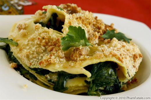 Vegetarian Palak Paneer Lasagna Recipe