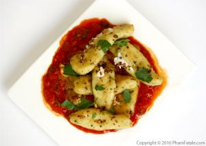 Stuffed Gnocchi (Cheese Stuffed Pasta with Romesco Sauce Recipe