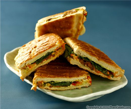 Panini Sandwich Recipe (Grilled Cheese and Spinach Panini) Recipe