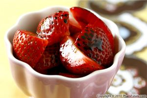Strawberries with Balsamic Syrup Recipe