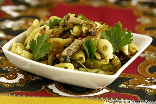 Pasta Shells with Grilled Portobello Mushrooms (Pasta Salad Recipe) Recipe