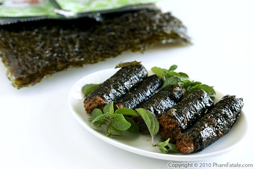 Vegetarian Fish in Nori Rolls (Ca Keo Chay) Recipe