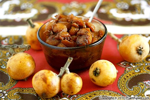 Loquat Chutney Recipe with Picture