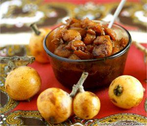 Loquat Apricot Chutney Recipe