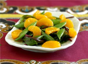 Beet Green and Sugar Snap Pea Salad Recipe