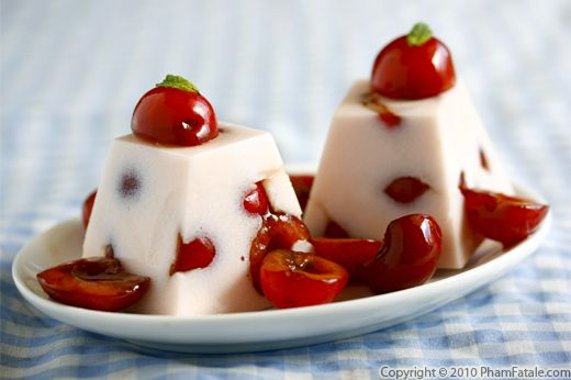 Agar Agar Cherry Panna Cotta Recipe Recipe