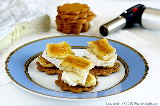 Bruleed Banana Cheese Gingersnap Treats (Croques Banane Brie Recipe) Recipe