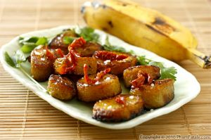 Pan Fried King Bananas