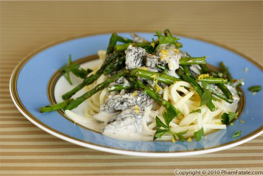 Roasted Asparagus and Fresh Morel Pasta Recipe Recipe