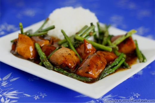 Asparagus Chicken Stir Fry Recipe (Black Bean Sauce Chicken) Recipe