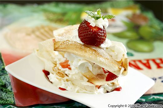 Asian-Style Strawberry Napoleon Recipe (Mille-feuille Fraise Noix de Coco Dessert) Recipe