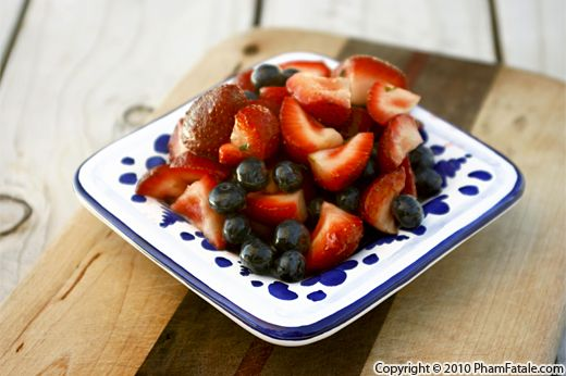 Strawberry and Blueberry Fruit Salad Recipe (Coupe Fraises Myrtilles) Recipe