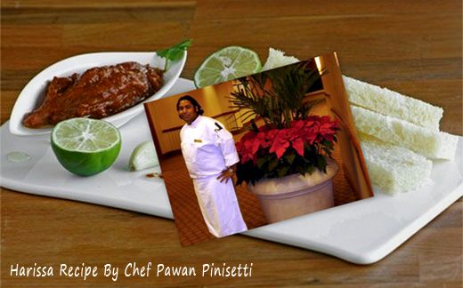 Harissa Recipe Provided by Chef Pawan Pinisetti Recipe