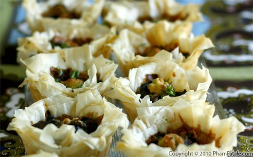 Grilled Portobello Mushrooms in Phyllo Cups Recipe