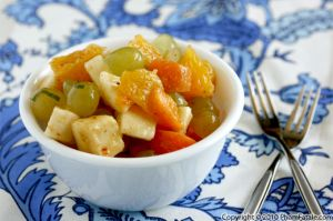 Fruit Chaat Recipe (Indian Spicy Fruit Salad)