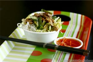 Vietnamese Grilled Chicken with Vermicelli Noodles (Bun Ga Nuong)