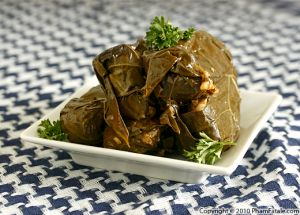 Dolmades (Stuffed Grape Leaves Recipe)