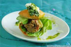 Mini Keema Burgers in Pate a Choux Buns
