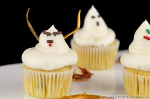 Ghost Pumpkin Cupcake Recipe
