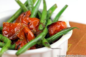 French Green Beans with Oven Roasted Tomatoes