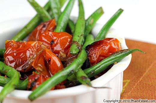 French Green Beans with Oven Roasted Tomatoes Recipe