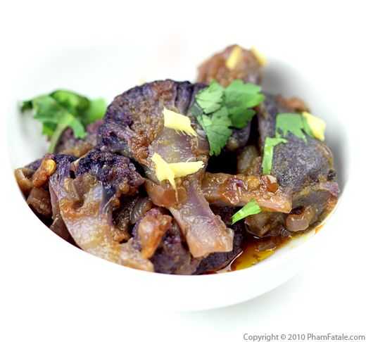 Aloo Gobi Recipe with Purple Cauliflower and Potatoes Recipe