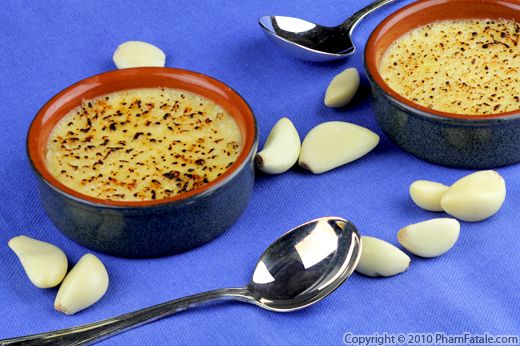 Roasted Garlic and Cheese Creme Brulee Recipe Recipe